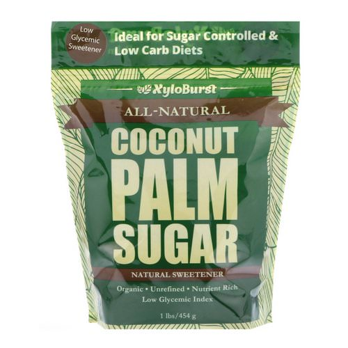 Xyloburst, All-Natural Coconut Palm Sugar, Low Glycemic Sweetener, 1 lb. (454 g) Review