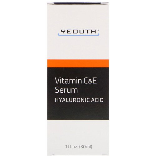 Yeouth, Vitamin C & E Serum with Hyaluronic Acid, 1 fl oz (30 ml) Review
