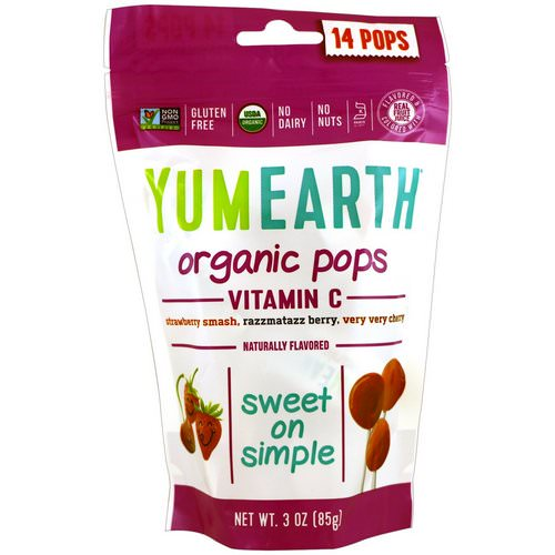 YumEarth, Organic Vitamin C Pops, 14 Pops, 3 oz (85 g) Review