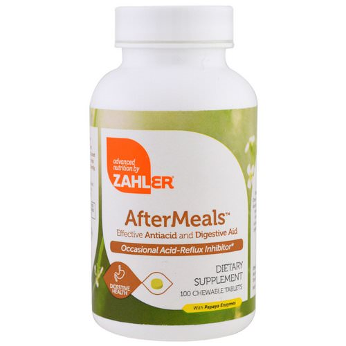 Zahler, AfterMeals, Effective Antiacid and Digestive Aid, 100 Chewable Tablets Review