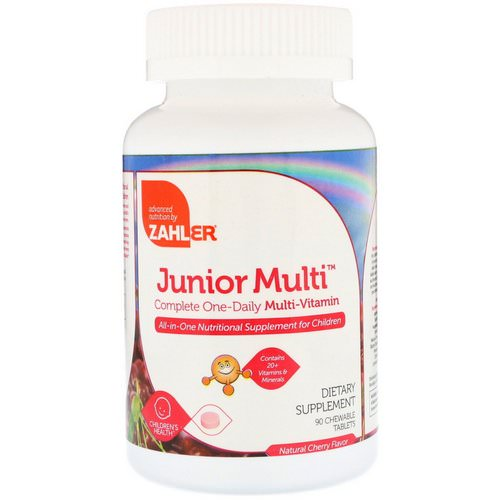 Zahler, Junior Multi, Complete One-Daily Multi-Vitamin, Natural Cherry Flavor, 90 Chewable Tablets Review