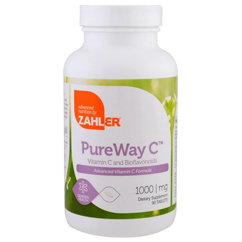 Zahler, PureWay C, Advanced Vitamin C, 1,000 mg, 90 Tablets Review