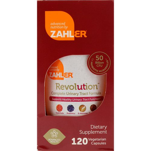 Zahler, Revolution, Complete Urinary Tract Formula, 120 Vegetarian Capsules Review