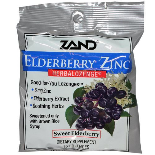 Zand, Elderberry Zinc, Herbalozenge, Sweet Elderberry, 15 Lozenges Review