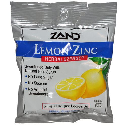 Zand, Lemon Zinc, Herbalozenge, Natural Lemon Flavor, 15 Lozenges Review