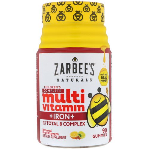 Zarbee's, Children's Complete Multivitamin + Iron, Natural Fruit Flavors, 90 Gummies Review