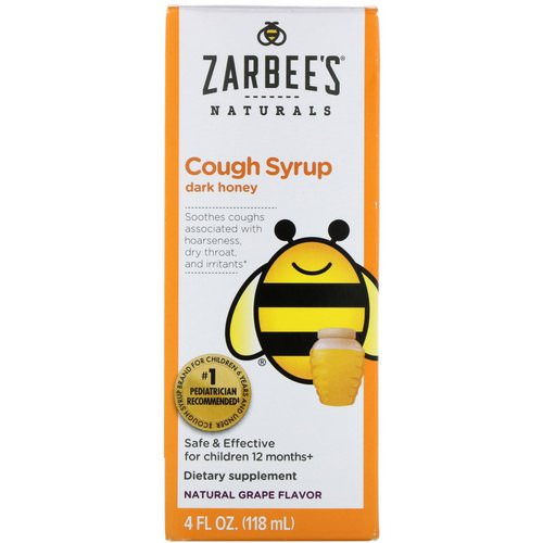 Zarbee's, Children's Cough Syrup with Dark Honey, Natural Grape Flavor, 4 fl oz (118 ml) Review