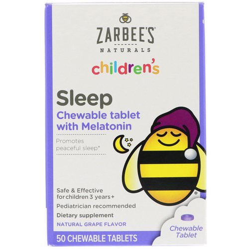 Zarbee's, Children's Sleep with Melatonin, Natural Grape, 50 Chewable Tablets Review
