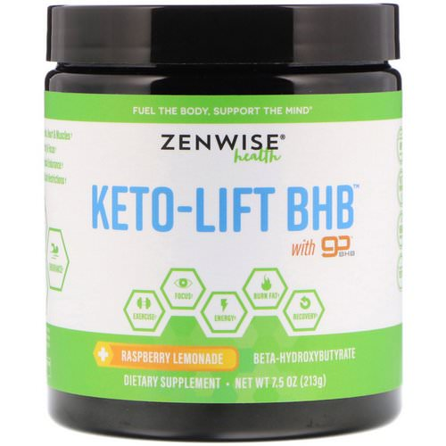 Zenwise Health, Keto-Lift BHB, Beta-Hydroxybutyrate, Raspberry Lemonade, 7.5 oz (213 g) Review