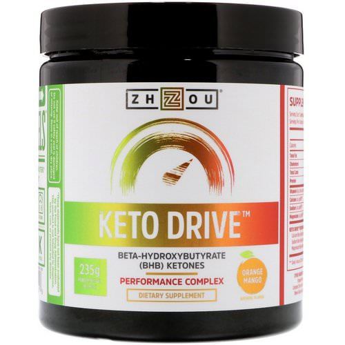 Zhou Nutrition, Keto Drive, Orange Mango, 8.29 oz (235 g) Review