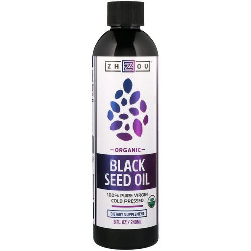 Zhou Nutrition, Organic, 100% Pure Virgin Black Seed Oil, Cold Pressed, 8 fl oz (240 ml) Review