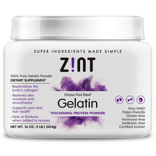 Zint, Grass-Fed Beef Gelatin, Thickening Protein Powder, 16 oz (454 g) Review