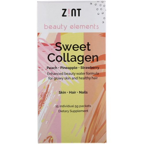 Zint, Sweet Collagen, Peach, Pineapple, Strawberry, 15 Individual Packets, 5 g Each Review